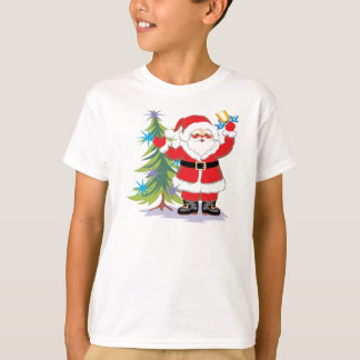 Cute and Happy Santa Claus Ringing a Bell T-Shirt