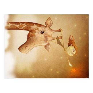 Cute and imaginative illustration postal