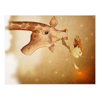 Cute and imaginative illustration tarjetas postales