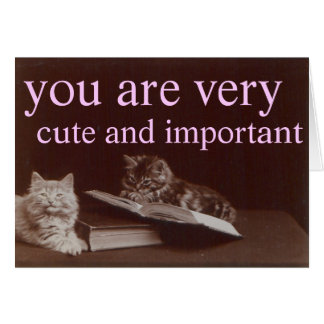 cute and important greeting card