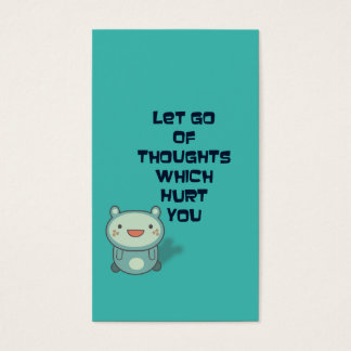 Cute and Inspirational Encouraging Quote Business Card