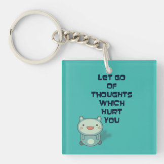 Cute and Inspirational Encouraging Quote Acrylic Key Chains