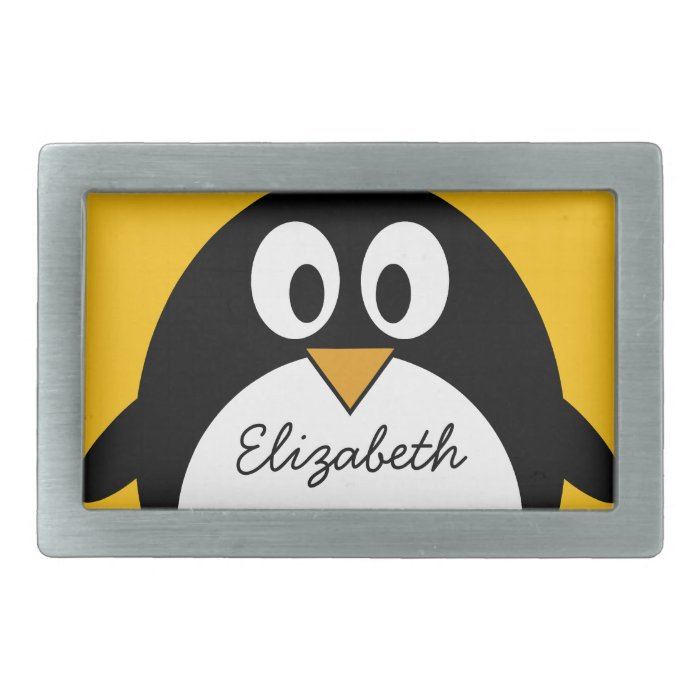 Cute and Modern Cartoon Penguin Belt Buckle