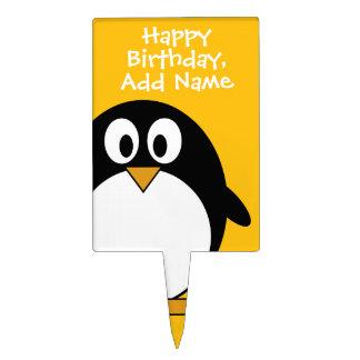 Cute and Modern Cartoon Penguin Cake Topper
