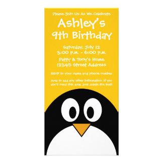 Cute and Modern Cartoon Penguin Card