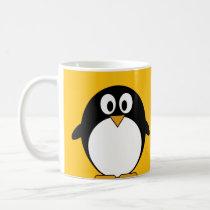 Cute and Modern Cartoon Penguin Coffee Mug
