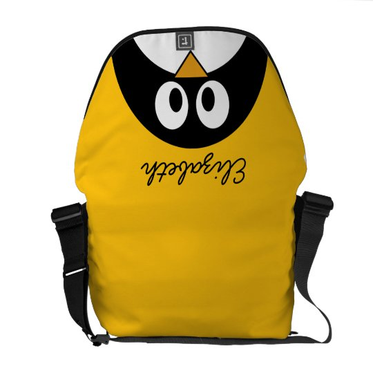Cute and Modern Cartoon Penguin Messenger Bag