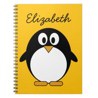 Cute and Modern Cartoon Penguin Notebooks