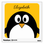 Cute and Modern Cartoon Penguin Wall Graphic