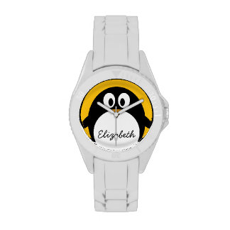 Cute and Modern Cartoon Penguin Wristwatches