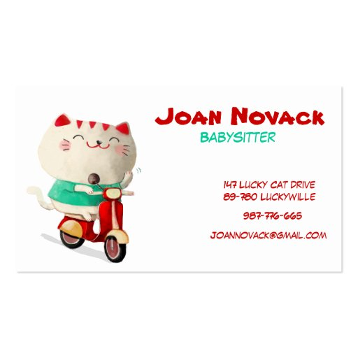 Cute and Modern Lucky Cat Business Card Templates
