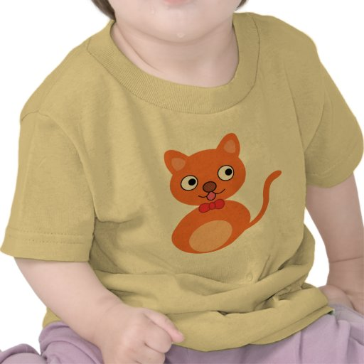 Cute and Orange Cat Tee Shirts