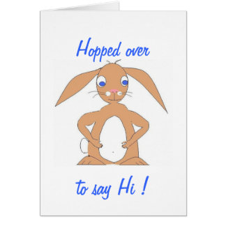 Cute, and perhaps fat, rabbit card
