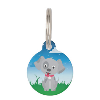Cute and Playful Puppy or Dog Pet Tag