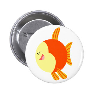 Cute and Plump Cartoon Fish Button Badge