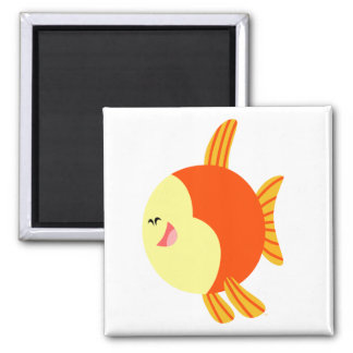 Cute and Plump Cartoon Fish Magnet