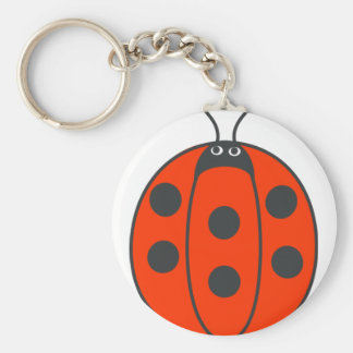 Cute and Plump Ladybug Keychain