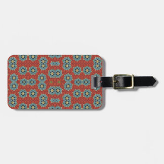 Cute and Quaint Floral - Red and Blue Bag Tag