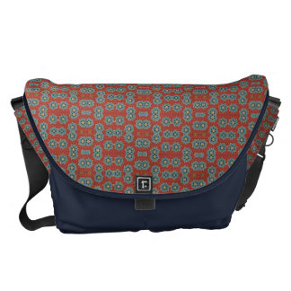 Cute and Quaint Floral - Red and Blue Courier Bag