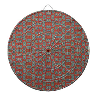 Cute and Quaint Floral - Red and Blue Dartboard With Darts
