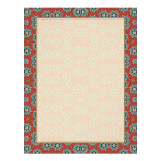Cute and Quaint Floral - Red and Blue Flyer