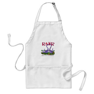 Cute and Romantic Dinos - Rawr Adult Apron