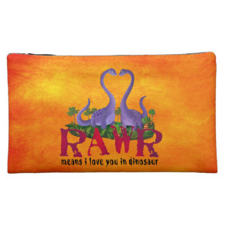 Cute and Romantic Dinos - Rawr Cosmetic Bag
