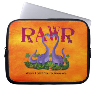 Cute and Romantic Dinos - Rawr Laptop Sleeve