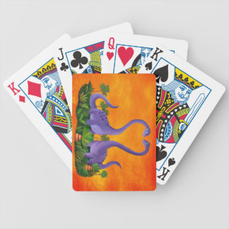 Cute and Romantic Dinosaurs Bicycle Playing Cards