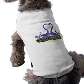 Cute and Romantic Dinosaurs Doggie T Shirt