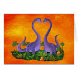Cute and Romantic Dinosaurs Greeting Card