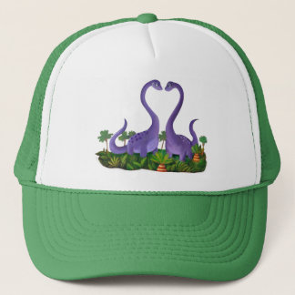 Cute and Romantic Dinosaurs Trucker Hat