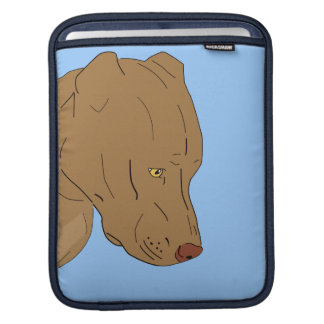 Cute and Sad Pit Bull Portrait Sleeves For iPads