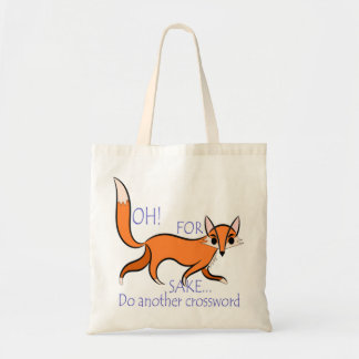 Cute and sassy fox quote for crossword lovers tote bag