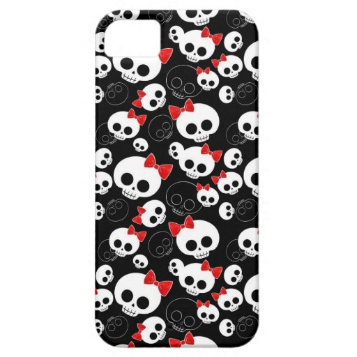 Cute and Scary Skulls iPhone 5 Case