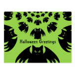 Cute and silly black Halloween bats Postcard