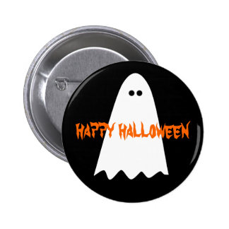 Cute and simple Halloween ghost Button
