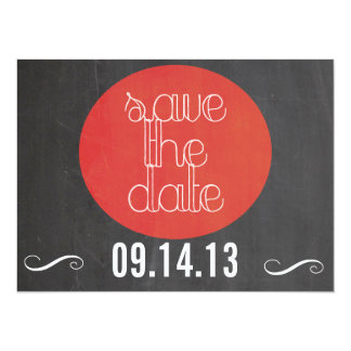 Cute and Simple Photograph Save the Date 5.5x7.5 Paper Invitation Card