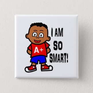 Cute and Smart African American Boy Button