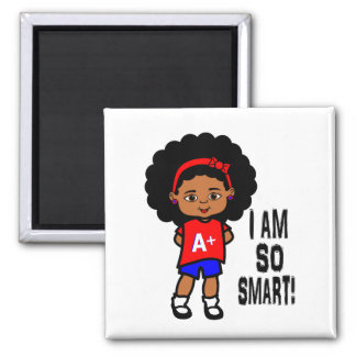 Cute and Smart African American Girl Magnet