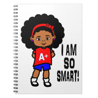 Cute and Smart African American Girl Notebook