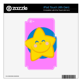 Cute and Smiling Star For Baby Girl Decals For iPod Touch 4G