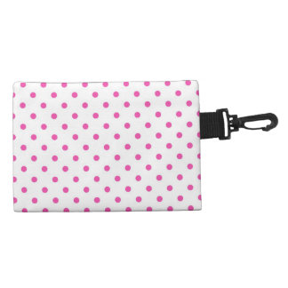 Cute and sweet pink polka dots accessories bags