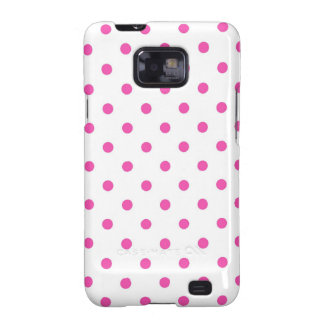Cute and sweet pink polka dots galaxy SII cases