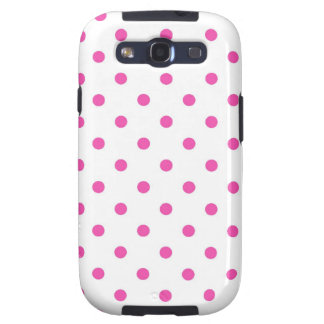 Cute and sweet pink polka dots samsung galaxy s3 covers