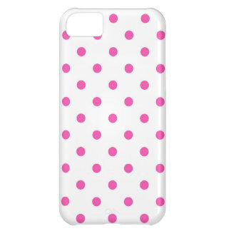Cute and sweet pink polka dots case for iPhone 5C