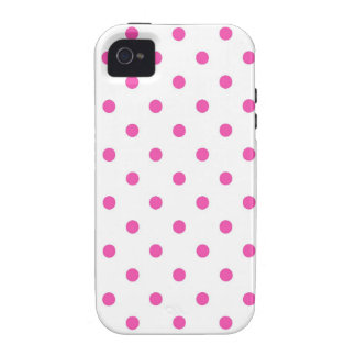Cute and sweet pink polka dots Case-Mate iPhone 4 covers