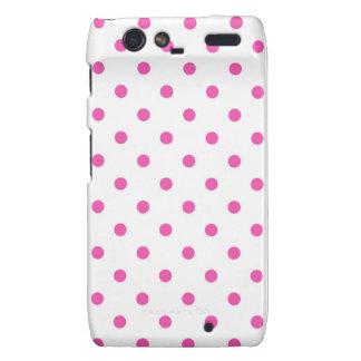 Cute and sweet pink polka dots motorola droid RAZR cases