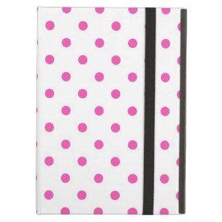 Cute and sweet pink polka dots iPad folio cases