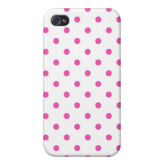 Cute and sweet pink polka dots iPhone 4 case